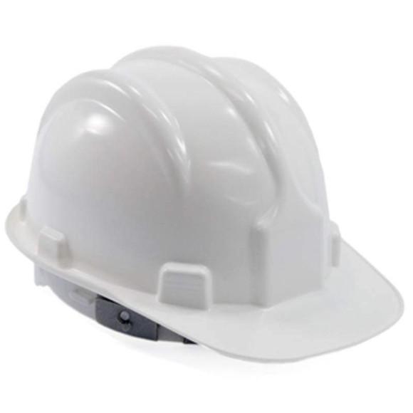 Capacete de Segurança Cor Branco com Carneira- PLASTCOR