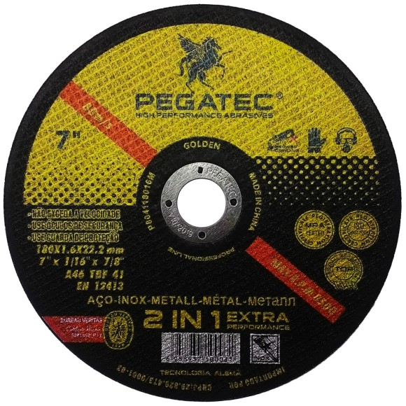 Disco de Corte PEGATEC A46 TBF 41 7
