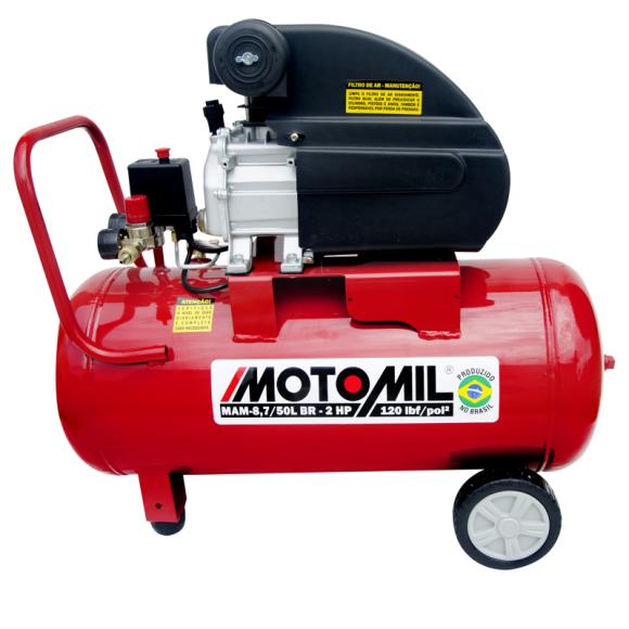 Motocompressor de Ar 8,7 pés³/min 2,0HP 50 Litros 220V -37896.2- MOTOMIL