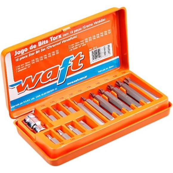 Jogo de Bits Tork com 15 Peças WAFT - 6233