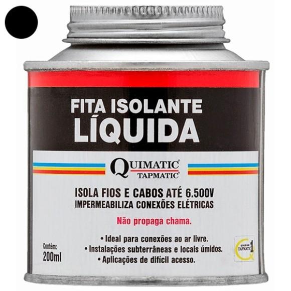 Fita Isolante Liquida 200ML Preta - TAPMATIC