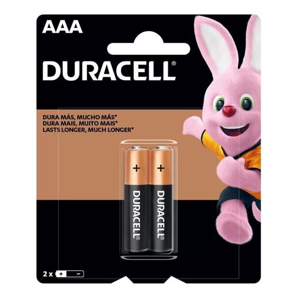 Pilha alcalina Duralock AAA com 2 unidades - Duracell