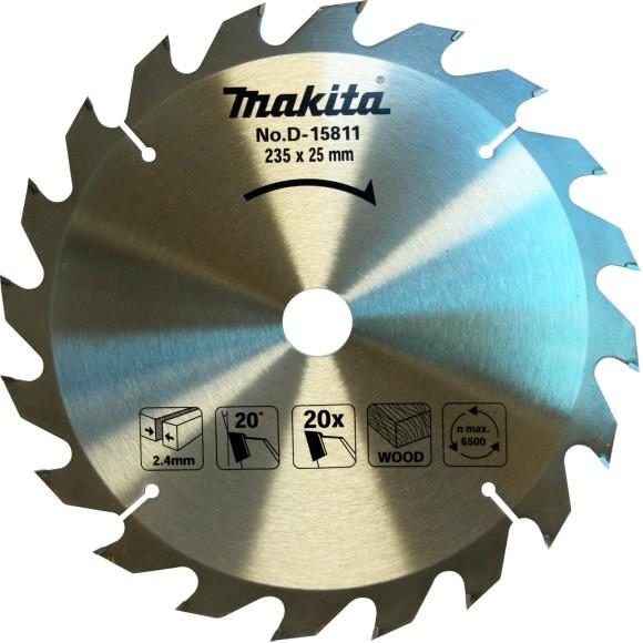 Disco de Serra Para Madeira 235x25mm 20 Dentes Makita - D-15811