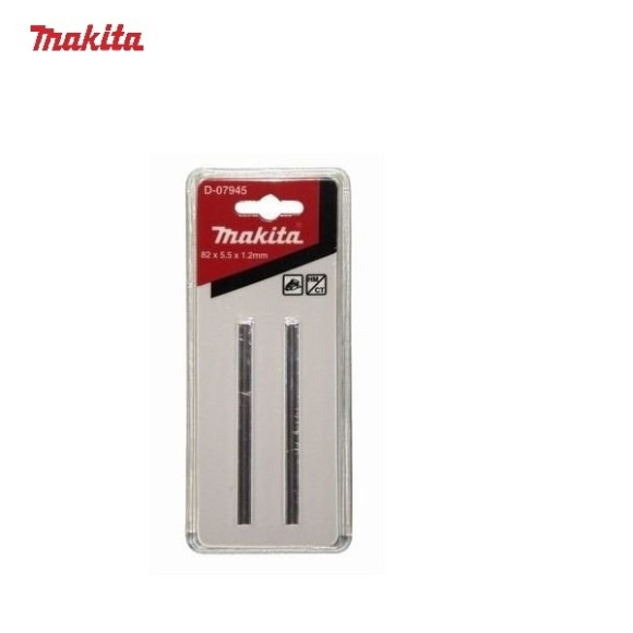 Jogo de Faca Para Plaina 82 x 5,5 x 1,2mm com 2 peças Makita - D-07945