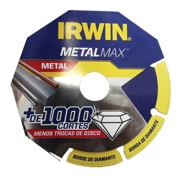 Disco de Corte Diamantado para Metais 115X1,3X22MM P/AÇO, INOX METALMAX - IRWIN