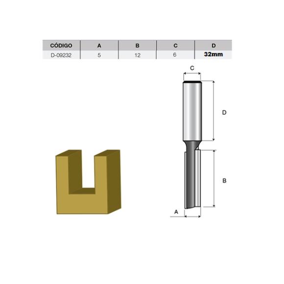 Fresa Paralela Dupla 5mm D-09232- Makita