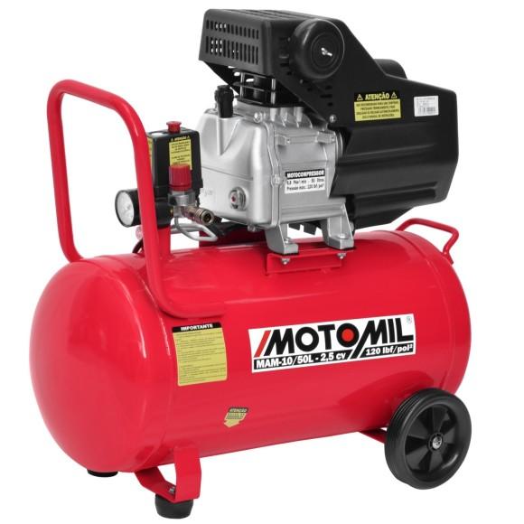 Motocompressor de Ar 8.8 Pés 50 Litros 220V- MOTOMIL