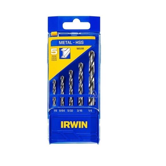 Jogo de Brocas para Metal HSS com 5 peças 1865288 - Irwin
