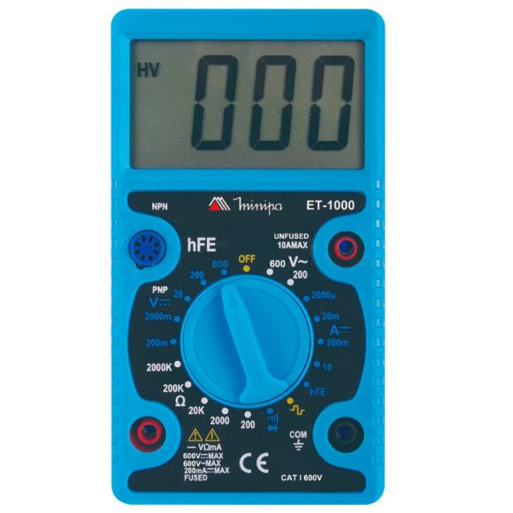 Multímetro Digital Portátil Minipa - ET- 1000