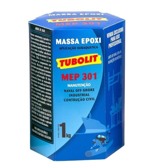 Massa Epoxi Tubolit Mep 301 1kg Naval Casco Subaquática
