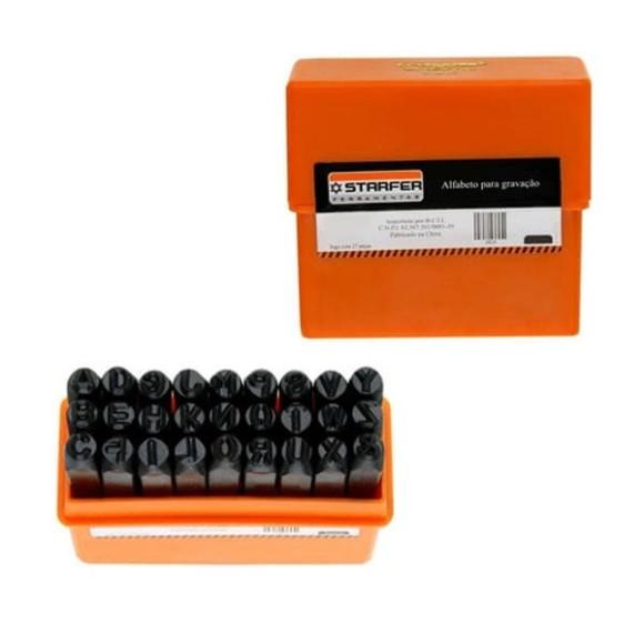 Alfabeto para Gravação 8mm Starfer
