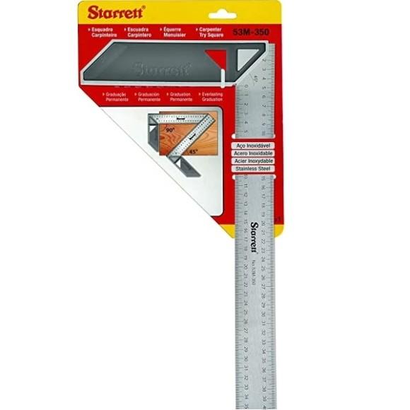 Esquadro para Carpinteiro com Cabo de Alumínio 350mm- K53M-350-S- STARRETT