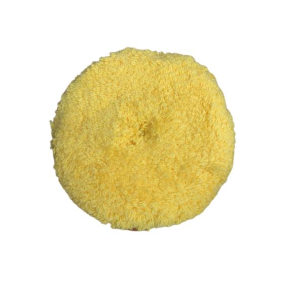 Boina dupla face amarela macia 8 polegadas