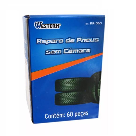 Reparo de pneus sem câmara 60 peças - Western