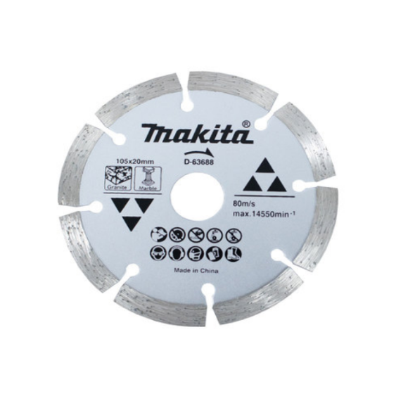 Disco de corte diamantado 105mm corte a seco - D-63688- Makita