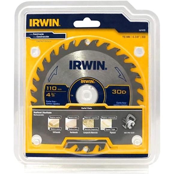 Lâmina Para Serra Circular Madeira 4.3/8 IW14105 30D- Irwin