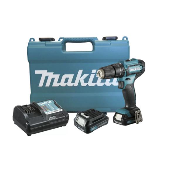 Furadeira e Parafusadeira de Impacto 12V com 2 Baterias Lítio Carregador Bivolt e Maleta HP333DWYE - Makita