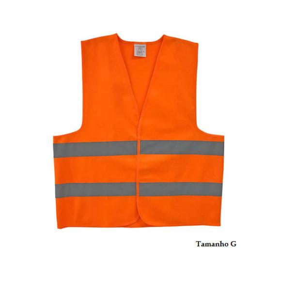 Colete refletivo tipo jaqueta Tamanho G PPS08 laranja neon - Proteplus