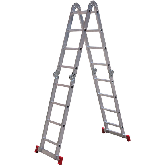 Escada articulada 4x4 com 16 degraus de alumínio ESCO293 - Botafogo