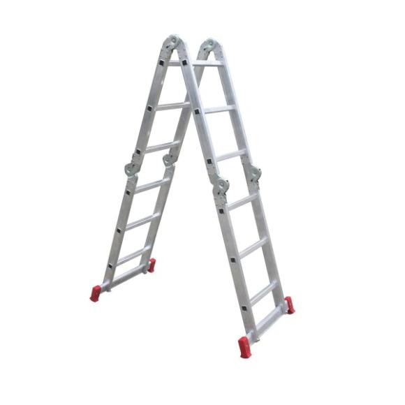 Escada articulada 3x4 com 12 degraus de alumínio 13 em 1 ESCO292 - Botafogo