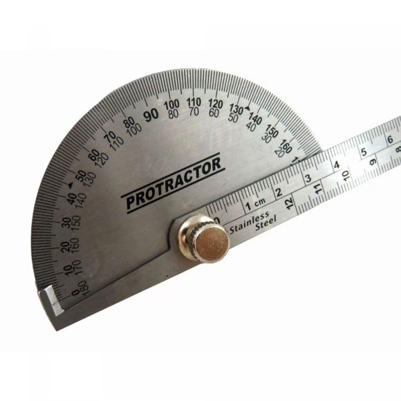 Transferidor de grau 0-180º em aço inox 4GP - Eda