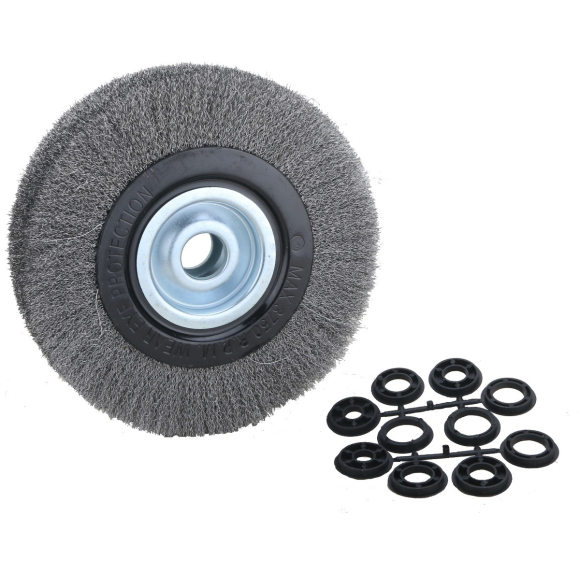 Escova circular aço carbono ondulado 8