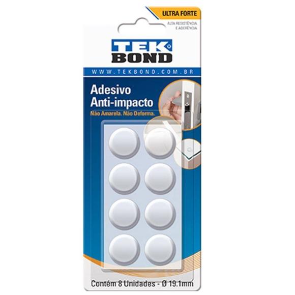 Adesivo Anti-Impacto Redondo 19.1mm com 8 unidades - TekBond