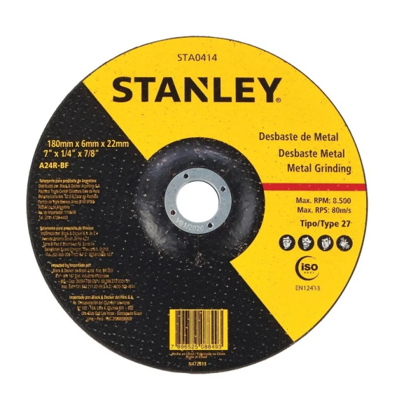 Disco abrasivo de desbaste para metal 7