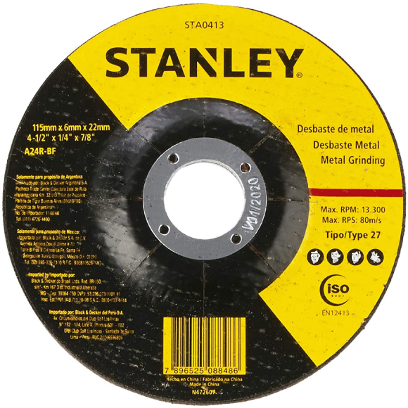 Disco abrasivo de desbaste para metal 4.1/2