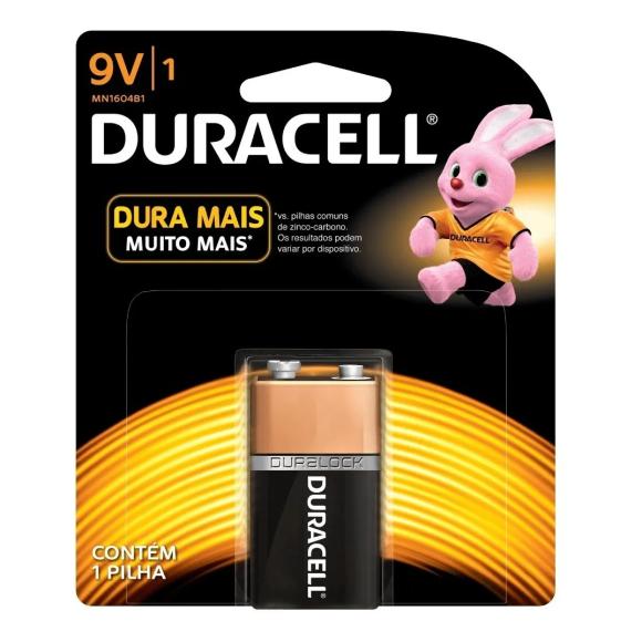 Bateria alcalina 9V - Duracell