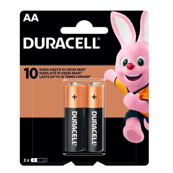 Pilha alcalina Duralock AA com 2 unidades - Duracell