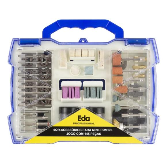 Acessórios para Mini Retífica com 145 peças 9QR  - Eda