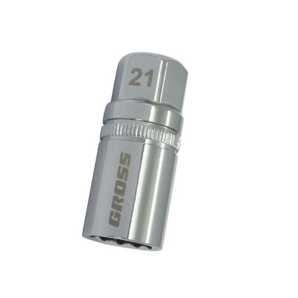Soquete para Vela Estriado 21mm Magnético Encaixe de 1/2 Gross 13189