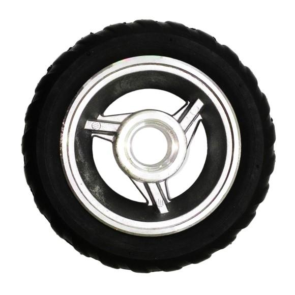 Aro de Alumínio 4 Polegadas C/ Pneu Semi Maciço 2.00x4* MADEMIL - 11.801