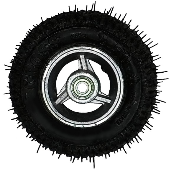 Roda Roletada 4 Polegadas c/ Pneu CROSS 2.50x4*