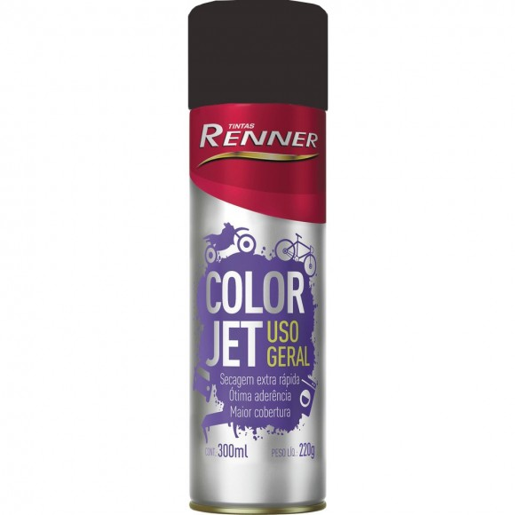 Tinta Spray Preto Fosco Color Jet - RENNER