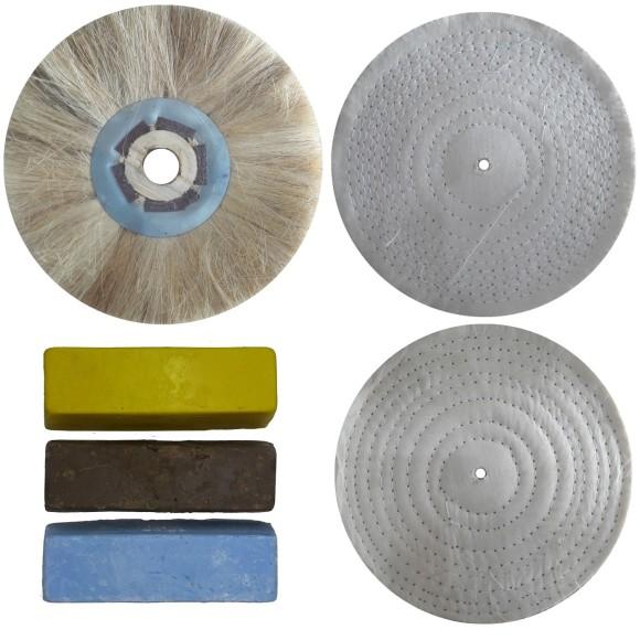 Kit para Polimento / Lustro Aço Inox